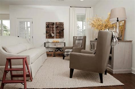 gray leather wingback chairs cottage living room