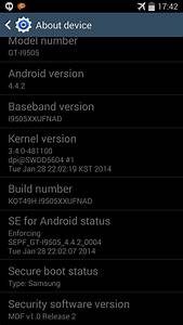 Update Galaxy S4 To I9505xxufnad Android 4 4 2 Leaked Test