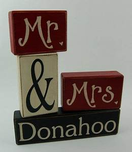 mr mrs letter blocks personalized family name With mr mrs block letters