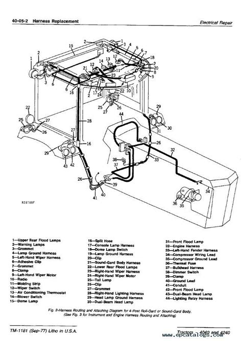 Deere 4440 Wiring Diagram by Deere 4240 Wiring Diagram Auto Electrical Wiring
