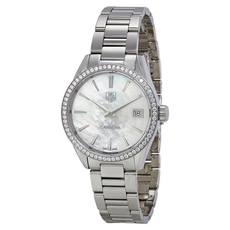 tag heuer watches tag heuer carrera mother of pearl dial stainless