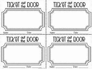 best 25 exit tickets ideas on pinterest exit slips With ticket out the door template