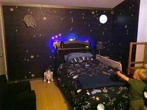 Space Station Dock Bedroom with Light-up Spaceship Bed