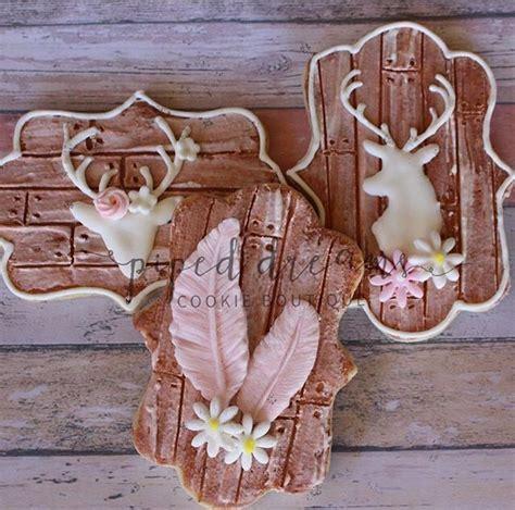 wood plank deer head floral cookies cookie monster