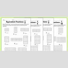Equivalent Fractions Worksheet  Equivalent Fractions, Worksheet