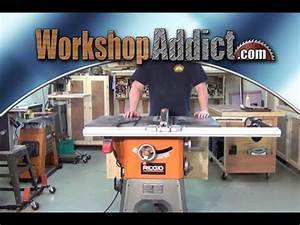 Ridgid Table Saw Reviews Grizzly G0732 Contractor Table