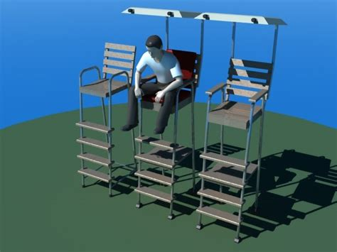 3d tennis umpire chairs model