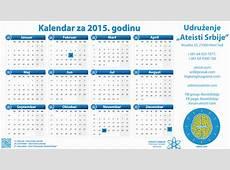 Ateistički Kalendar 2015 Ateisti Srbije