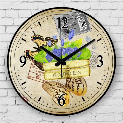 These modern clocks would fit in a modern interior design and could surely enhance your home's walls. beautiful butterfly decorative mute wall clock fashion ...