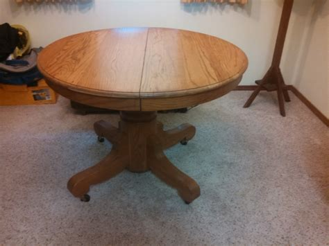 antique oak pedestal table antique oak pedestal round dining table with 2 leaves