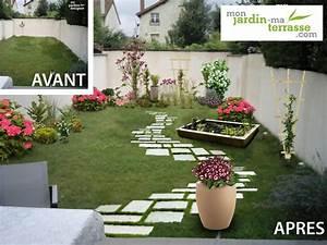 amenager un rez de jardin en longueur monjardin With amenager un jardin en longueur