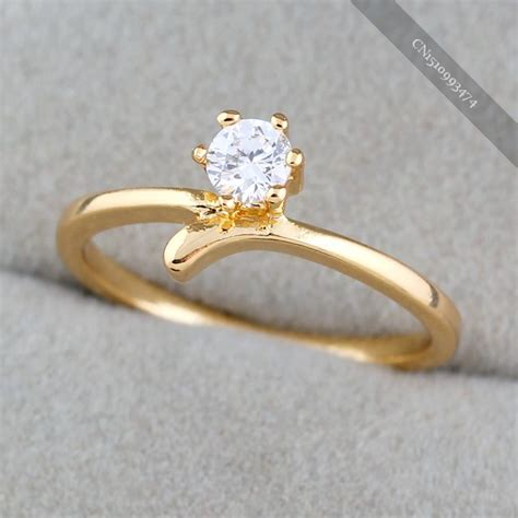 low price charms flower wedding rings gold platinum plated elegant jewelry in rings from