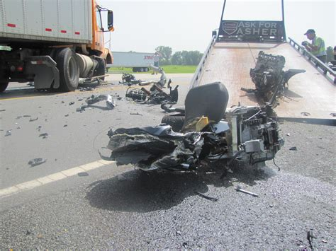 motorcycle tractor trailer accident kills    rock