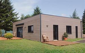 maison bois en kit toit plat maison ecologique salon With maison toit plat en l 1 maison en kit toit plat