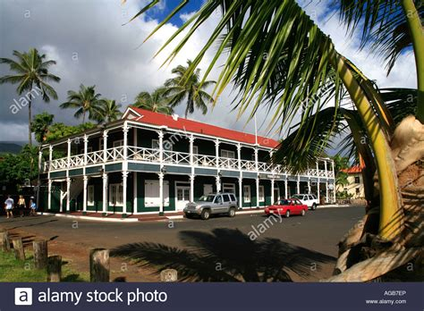 pioneer inn lahaina maui hawaii stock photo  alamy