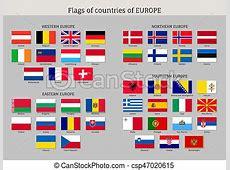Set of national european flags Set of national european