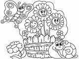 Coloring Garden Pages Flower Drawing Printable Flowers Simple Gardens Plants Watering Children Patio Planting Sheets Spring Getcoloringpages Fabulous Kid Boy sketch template