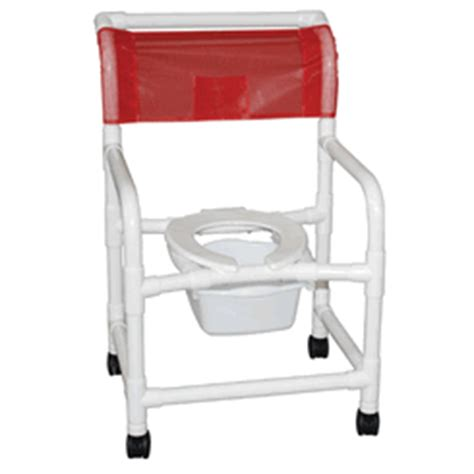 pvc shower chair 22 quot wide 3 quot casters with