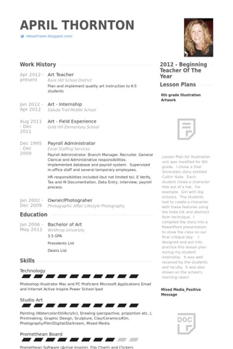 Educational Resume Sles by Arts Resume Sales Lewesmr