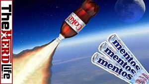 Coke Rockets Vs Diet Coke Rockets With Mentos Youtube