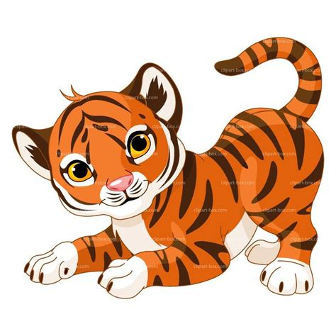 clipart baby tiger royalty  vector design heueqk