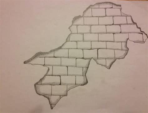 wall drawing pencil practice drawing a brick wall Brick
