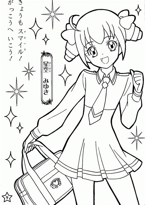 coloring pages  anime coloring home