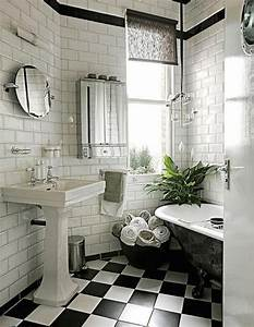 31 black and white checkered bathroom tile ideas and pictures for Black and white bathrooms images