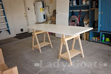 diy height adjustable desk ana white adjustable height sawhorses diy projects
