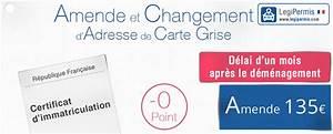 Carte Grise Changement Adresse Gratuit : amende changement d 39 adresse de carte grise legipermis ~ Gottalentnigeria.com Avis de Voitures