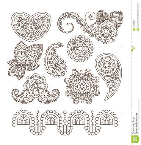 indian floral ornaments mandala henna vector stock