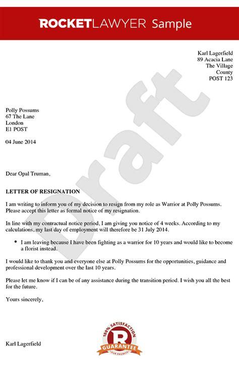 resignation letter resignation letter sample