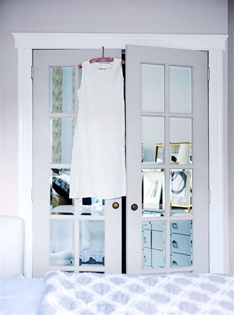 8ft Mirror Closet Doors by 3 So Ways To Make Big Boring Closet Doors