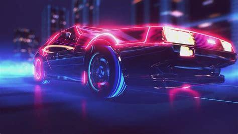80s Neon Car Wallpaper by Retrowave Audacioza Le
