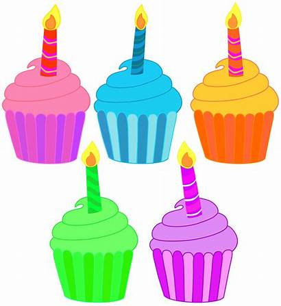 Cupcake Birthday Cupcakes Clipart Candle Classroom Five