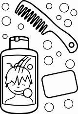 Coloring Hygiene Boyama Sac sketch template