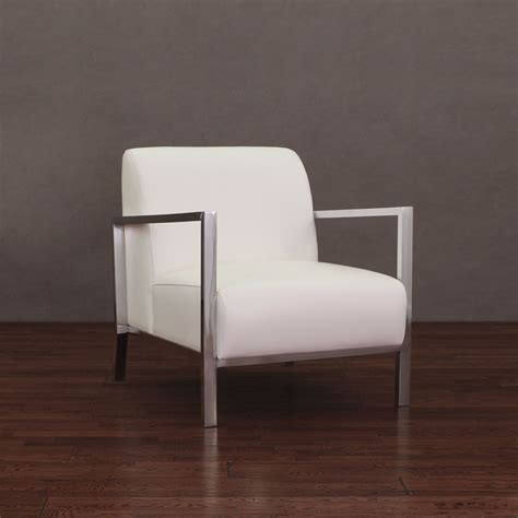 give  room  touch  modern style   white leather chair  modena  accent arm