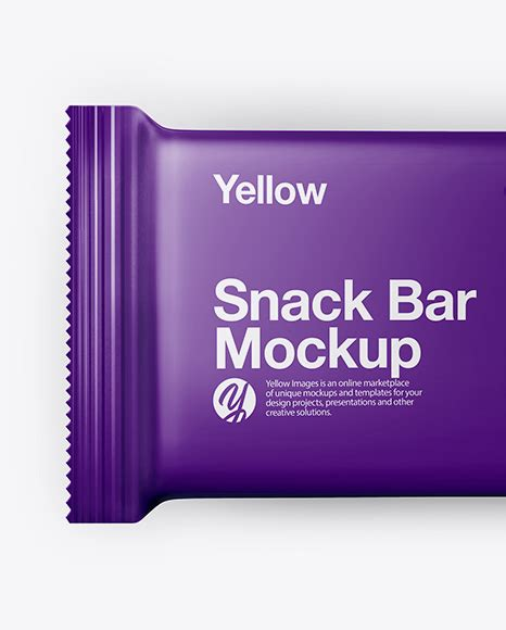 Create a professional presentation of the snack tube design or logo design using this mockups. Matte Snack Bar Mockup - Top View in Flow-Pack Mockups on ...