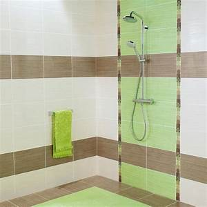 Carrelage Vert D Eau : conception carrelage salle de bain vert marron et home design nouveau bains ~ Melissatoandfro.com Idées de Décoration