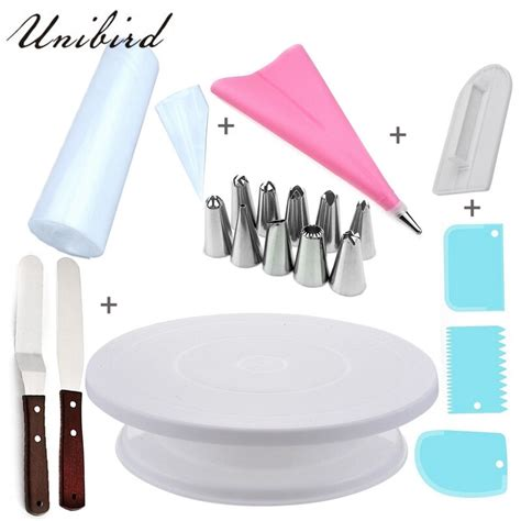 unibird diy cake decorating tools set icing piping nozzles