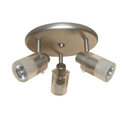 kitchen light fixtures home depot hton bay 3 light brushed steel ceiling mount 8324