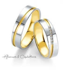 bague de mariage or blanc alliance duo alliances créations vioz