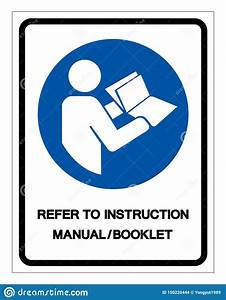 Refer Instruction Manual Booklet Symbol Sign Vector