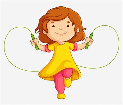 Rope Clipart Jump Woman Jumping Child Library