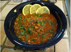 Moroccan Lentil And Chickpea Soup Recipe Genius Kitchen