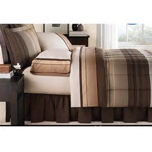 mainstays ombre coordinated bedding set with bedskirt