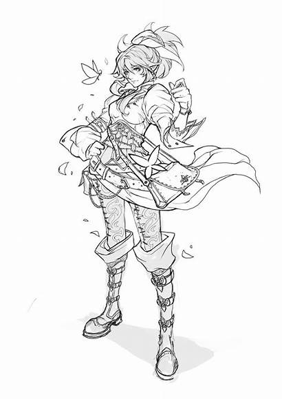 Lineart Anime Character Stream Deviantart Request Muju