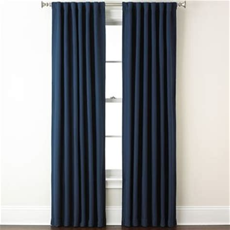eclipse fresno rod pocket back tab blackout curtain panel blue traditional curtains