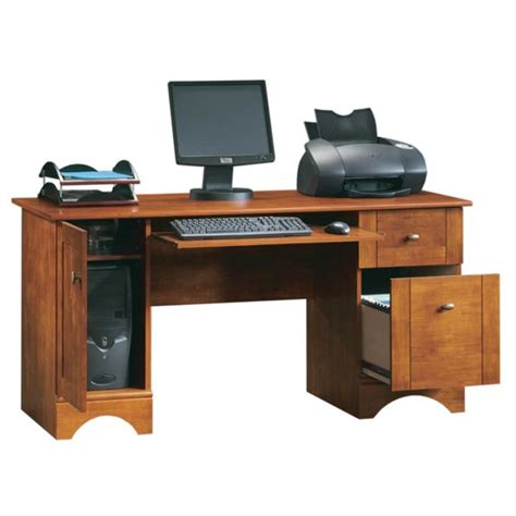 realspace dawson 60 computer desk brushed maple realspace dawson 60 pouces