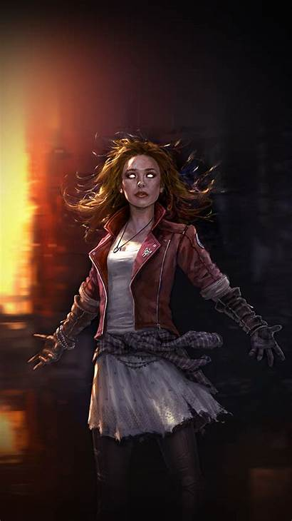 Witch Scarlet Wallpapers Avengers Scarlett Scary Hero